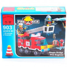 Конструктор пласт. Fire Rescue, 130 дет, 18*14*4, 5см, BOX, ENLIGHTEN арт. 903